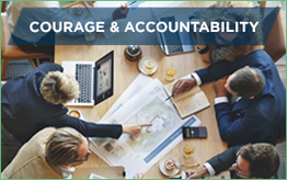 Courage & accountability - team meeting